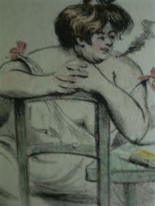 tekening rokende vrouw